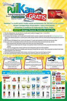 Hypermart: Promo Pulang Kampung Gratis Bersama Hypermart @hicard_id