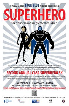 Dr. April Shueths of the Department of #Sociology & #Anthropology is leading the campus-wide #TrueBlue charge to support the Court Appointed Special Advocates of the Ogeechee Judicial Circuit in the November Superhero 5K Run for #CASA #SocioAnthro Read more: http://class.georgiasouthern.edu/blog/2014/09/09/georgia-southern-students-show-true-blue-spirit-to-aid-abused-neglected-children/