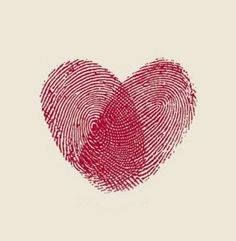 Thumb prints heart. Unity wedding ceremony idea. Combine our thumb prints into a heart and frame it after the ceremony