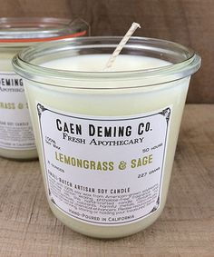 Look what I found on #zulily! Lemongrass and Sage Soy Candle #zulilyfinds
