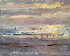 CA05-2015-Schuring-Seascape-Sunset and Surfers