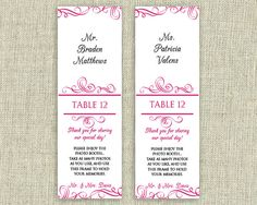 photo booth escort cards template | Photo Booth Photo Strip Escort ...