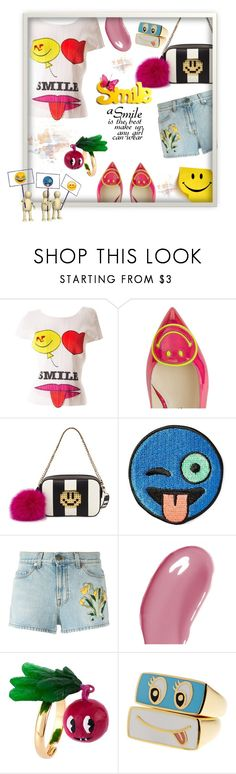 """""""Smile"""" by kitty-kimber ❤ liked on Polyvore featuring Issey Miyake, Camilla Elphick, Les Petits Joueurs, Stoney Clover Lane, Gucci, Guerlain, Les Néréides and Throwboy"""