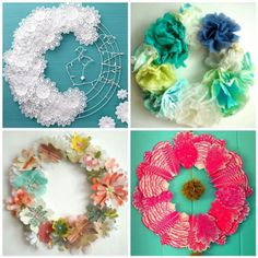 paper wreath variations