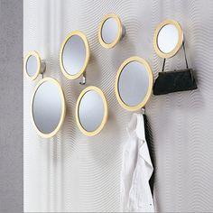 Porada Stars Set Of 7 Round Mirrors | 3 Small/3 Medium/1 Large