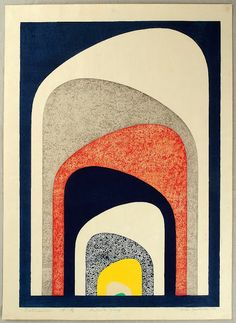 Tōshi Yoshida - Extension, 1969, Woodblock print