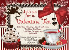 Valentine's Day Tea Party | Wedding Invitations and Save the Dates ...