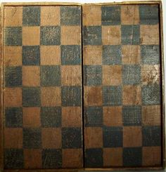 Antique Checkers Game Board