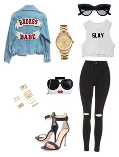 """""""#1"""" by kissthissass on Polyvore featuring Topshop, Gianvito Rossi, Alice + Olivia, Lacoste and Forever 21"""