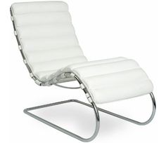 Mr chaise lounge Design Ludwig Mies van der Rohe, 1927 Tubular steel frame, cowhide Made in Italy by Knoll