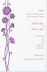 flower purple Invitations & Announcements