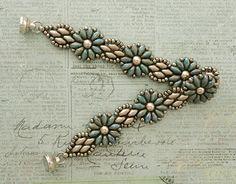 Linda's Crafty Inspirations: Bracelet of the Day: Daisy Chain - Nebula & Brown Sugar