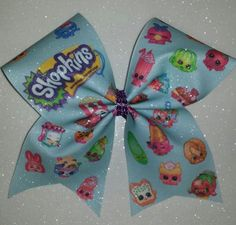 Cheer Bow-Shopkins by BOWcasions on Etsy https://www.etsy.com/listing/226902761/cheer-bow-shopkins