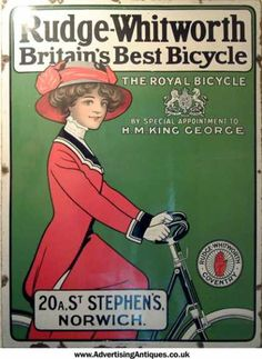 Rudge Whitworth Bicycles - this ladies looks very Annie inspired