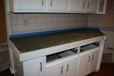 Quick Install of Concrete Countertops! Kitchen Remodel! – Remodelaholic