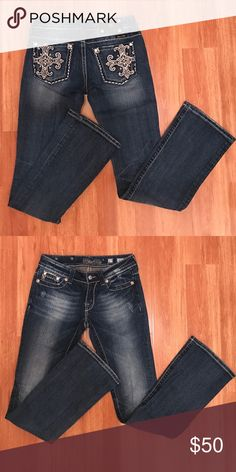 Miss Me Jeans, Boot Cut Miss Me Jeans, boot cut. Gently used. Inseam 34.  Top listed separately. Miss Me Jeans Boot Cut