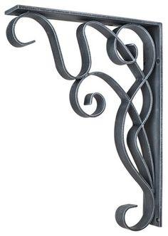 Metal Bar Brackets Art Nouveau Metal Brackets traditional-accessories-and-decor