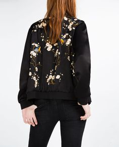 FLORAL EMBROIDERED BOMBER JACKET-View all-OUTERWEAR-WOMAN | ZARA United States