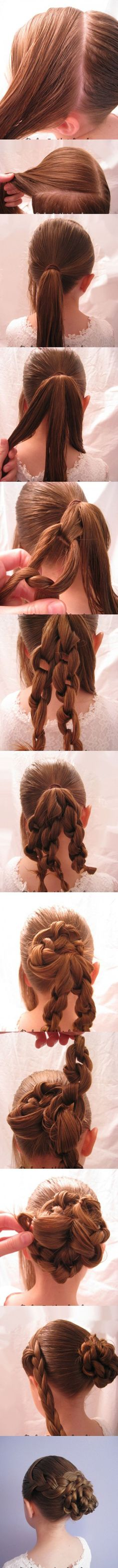 Super Effortless Knotted Bun Updo And Straightforward Bun Hairstyle Tutorials | Pinkous