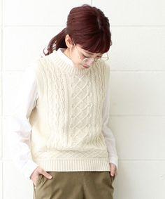 アラン編み ストーンウォッシュベスト(ベスト)|PAR ICI(パーリッシィ)のファッション通販 - ZOZOTOWN
