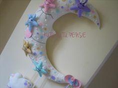 YILDIZ PERİLER VE AY DEDE KAPI SÜSÜ 1 (kız bebek kapı süsü)