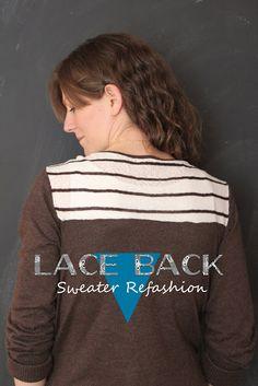 eat.sleep.MAKE.: CRAFT: Lace Back Sweater Refashion