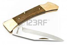 A image with Pocket knife isolated on white, download from http://www.123rf.com/photo_9673170_pocket-knife-isolated-on-white.html#aniruddhaalek