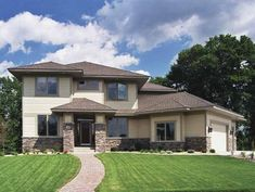 Prairie House Plan with 3149 Square Feet and 3 Bedrooms(s) from Dream Home Source | House Plan Code DHSW58587