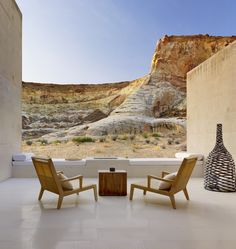 Amangiri Resort + Spa in Canyon Point, UT by Marwan Al-Sayed Inc. Architecture + Design, Wendell Burnette and Rick Joy; Amangiri Hotel, Amangiri Resort Utah, Outdoor Spaces, Outdoor Living, Outdoor Decor, Outdoor Seating, Fun Deserts, Desert Oasis, Desert Homes