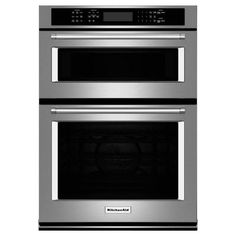 kitchenaid kdtm354ess. kitchenaid 30 in. electric even-heat true convection wall oven with built-in microwave in stainless steel (silver) kitchenaid kdtm354ess