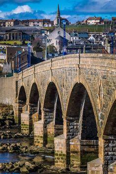 Crossing an old bridge in Banff, Aberdeenshire