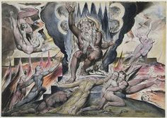 """Dante's Inferno - Hell Canto 5 by William Blake 