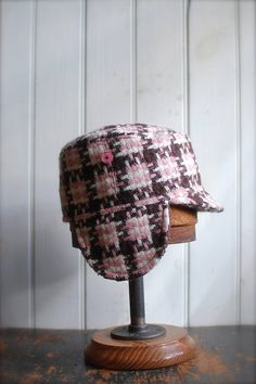 ca83721f1dd Items similar to Woodsman S  Military style hat in pink wool plaid