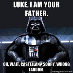 "wrong fandom ""I'm sorry. I'm liking for Luke Skywalker, but I hear you have father problems as well. I'm so sorry.""  Honestly I would prefer Anakin over Hermes"