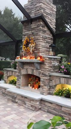 DIY - Outdoor Fireplace and Outdoor Kitchen Design Plans by Backyard Flare, LLC
