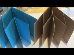 How to Make a Accordion Fold Mini Scrapbook Album Craft Tutorial - YouTube