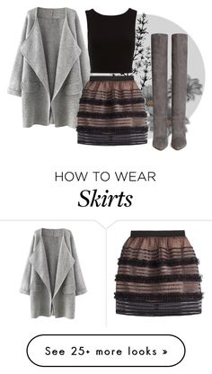 """Tulle Skirts"" by haleksiev on Polyvore featuring RED Valentino and Gianvito Rossi"