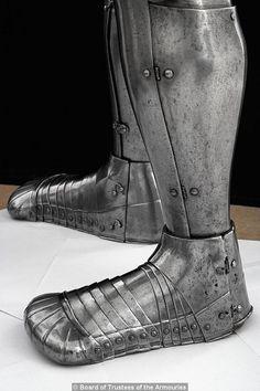 Sabatons from Henry VIII's foot combat armor