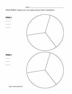 Teach Your Kids Fractions With These Fun Pizza Worksheets