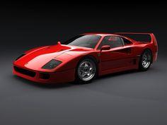 Ferrari f40. (Red)