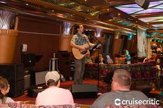 The Casino Stage, where a cover band performs most evenings and trivia quizzes take place day and night. Carnival Glory, Cover Band, Quizzes, Trivia, Westerns, Cruise, Miami, Stage, Night