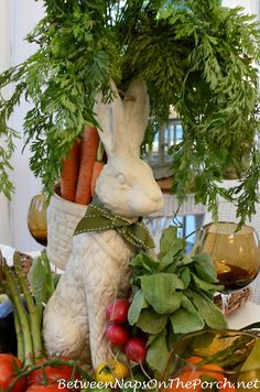 Garden Themed Table Setting Tablescape featuring Peter Rabbit