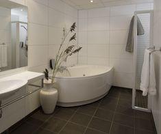 Tiles, floor and wall Basement Bathroom, Corner Bathtub, Wood Projects, Tiles, Flooring, The Originals, Wall, Juni, Room Tiles