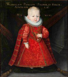 1596 Martin Kober - Portrait of Władysław Vasa,... | History of fashion in art & photo Renessanssin Taide, Hohto, Taidetta Lapsille, 1600-luku, Naamiaispuvut, Taaperoikäiset Tytöt, Vaatteet, Vauvat, Puola