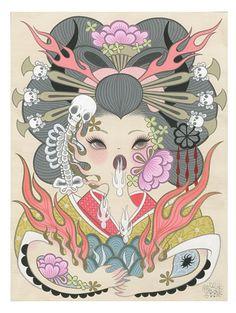 Jigoku Dayu (Hell Courtesan) 3 by Junko Mizuno - Gallery Nucleus