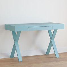 Light Blue Josephine Desk   World Market