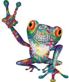 Weston Ink Reflective Cool Peace Frog Decal with Psychedelic Art Hippie Peace, Happy Hippie, Hippie Art, Hippie Boho, Funny Frogs, Cute Frogs, Frog Quotes, Frog Wallpaper, Frog Tattoos