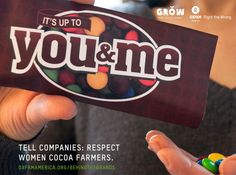 What's behind your M? Tell Mars, Mondelez and Nestle: women cocoa farmers deserve better! Get #BehindtheBrands