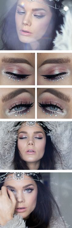 Sat.Dec.14/13, LINDA HALLBERG : TODAYS LOOK - TODAY WE LIVED A THOUSAND YEARS, ALL WE HAVE IS NOW.  I've used ... EYES:   NYX HD eyeshadow base, Too Faced Glamour Dust in Glampire and Blue Angel, Isadora twist up metallic eye pen Icy lilacs, MUS Cake eyeliner black, NYX wonderpencil, NYX Doll eyes long lash mascara.  LIPS: Lumene natural code lip gloss Soft papaya.  CHEEKS:  MAC Mineralize sheer sheen Silver Aura, NARS Blush Orgasm, MUS MS Smog.  Headpiece from Lindex.