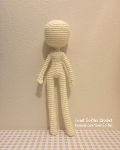 """The 12"""" Slender Doll Base is a versatile pattern that can easily be customized. It is comprehensive, providing full written instructions and example photos to guide you through the doll-making process. There is minimal sewing, as there are only two main pieces to be attached in the end: (1) the head/arms/upper-body, and (2) the legs/lower-body. In addition to fiberfill stuffing, pipe cleaners will also be inserted inside the doll's body to keep the doll stabilized, yet flexible..."""